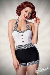 Betty Retro-Swimsuit - Schwarz-Weiss