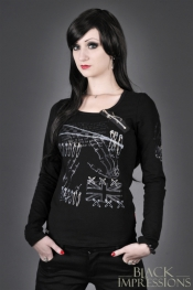 Black Cult Longsleeve with Print