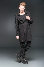 Black Rider Woolen Military Short Coat