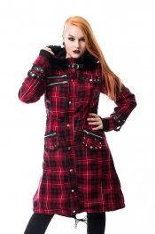 Dare Coat mit Kapuze - Red Check