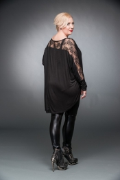 Dark Rose Longsleeve with Lace - Plus Size