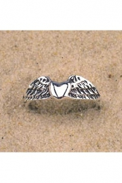 Winged Heart Ring Silver 925
