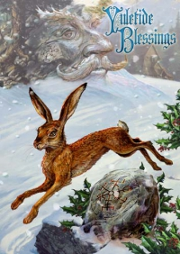Briar Jul-Midwinter-Grußkarte - Midwinter Rune Hare
