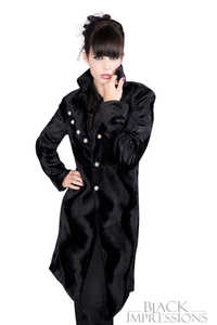 Ladies Military Coat Fur