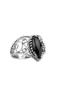 Black Weave Ring - Silber 925er + Onyx