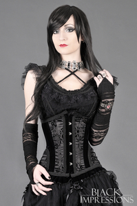Abandoned Satin Flock and Velvet Underbust Corset
