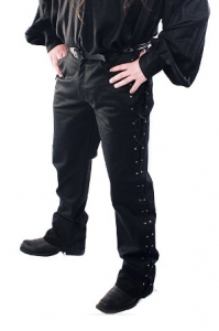 Black Master Trousers with Side Lacing