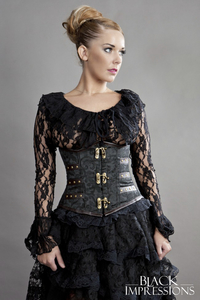 Enchantress Steampunk-Unterbrustkorsett in Brokat -...