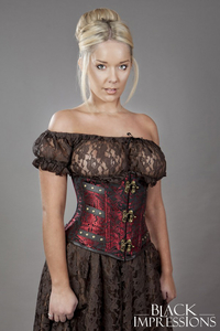 Enchantress Underbust Steampunk Corset in Brocade -...