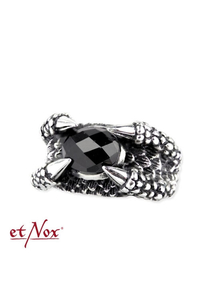 Big Black Claw Ring - stainless steel