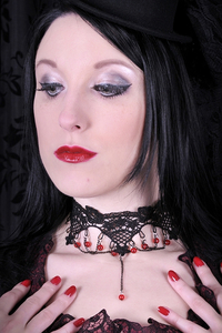 Vampire Blood Drop Lace Choker