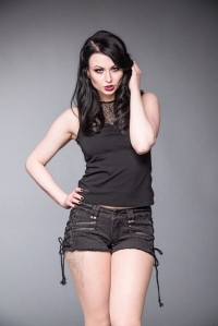 Black Dust Hot Pants with Lacing