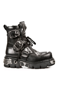 Reactor Gothic New Rock Boots mit Kreuzapplikation