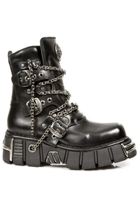 Black Tower New Rock Chain Boots