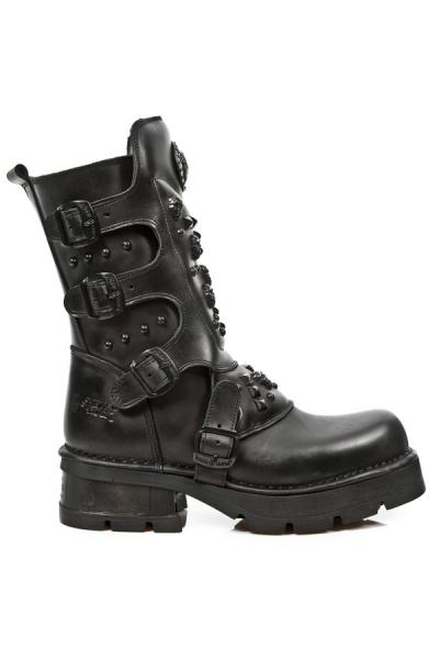 793b251881f4 Oxide Military New Rock Boots mit Skulls und Nieten