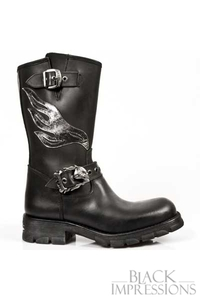 Flame Biker New Rock Boots