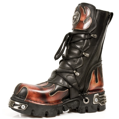 Reactor Hell Flame New Rock Boots