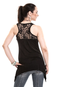 Amber Lace Panel Vest Top