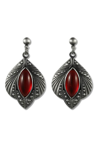 Mystic Jewel Gothic Earrings - Red