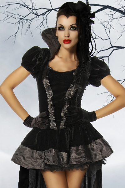 Vampire Countess Velvet Costume Dress, 45,00