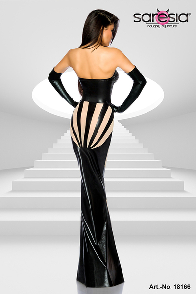 Wetlook Dress Evening Star - Schwarz-Haut