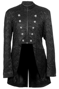 Black Lord Coat - Brocade