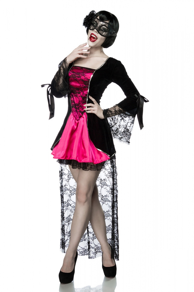 gothic vampire kost m schwarz pink 44 95. Black Bedroom Furniture Sets. Home Design Ideas