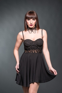 Elven Dance Mini Dress with Lace