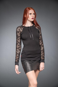Vigil Shirt With Long Lace Sleeves