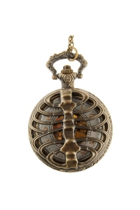 Ribcage Steampunk Pocket Watch Pendant