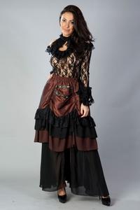 dc13c0c15a8 Carnation Victorian Maxi Skirt in Brass Taffeta