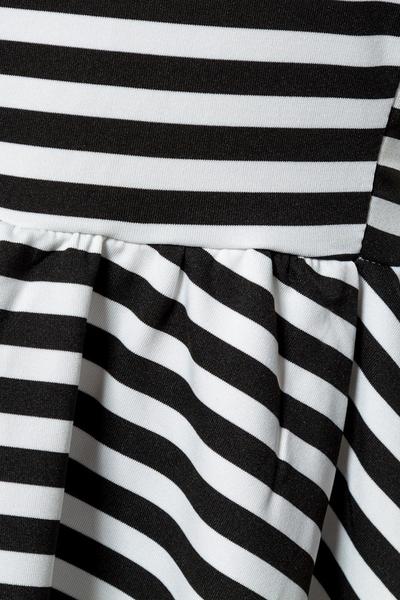 2c4e96f622c354 Black-White Stripe Peplum Top, 9,00 €