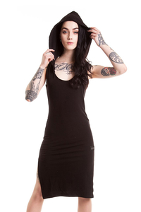 Nocturnal Hooded Dress