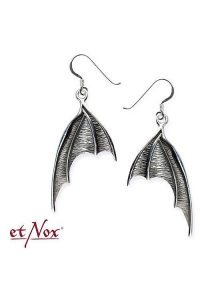 Bat Wings Earrings - Sterling Silver