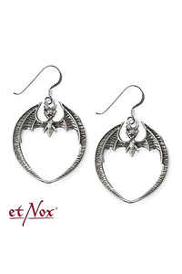 Bat Earrings - Sterling Silver