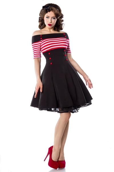 Prom poll! Sailor-rockabilly-kleid-mit-streifen-und-knoepfen-schwarz-rot