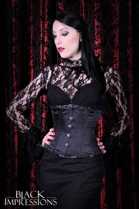 Black Victorian Lace Top