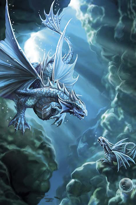 Water Dragon Anne Stokes Dragon Age Greeting Card 2 99
