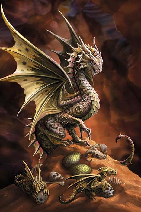 desert dragon anne stokes dragon age greeting card 2 99. Black Bedroom Furniture Sets. Home Design Ideas