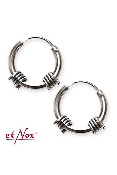 Barbwire Silver Earrings 10 90