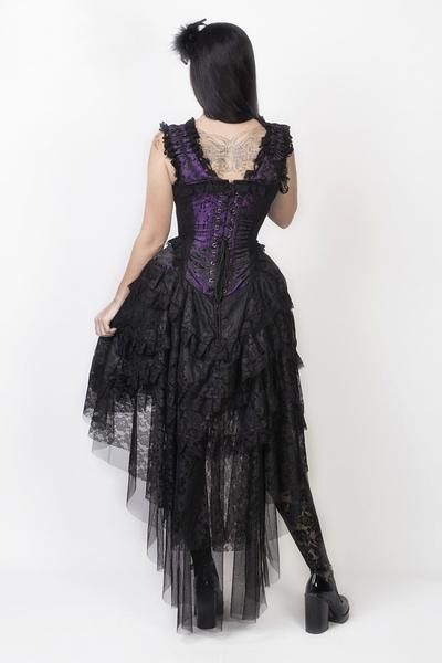 c895be7eb30b8 Ophelie Maxi Corset Dress - Schwarz-Violett