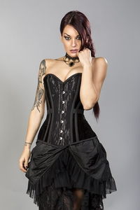 Morgana Velvet and Lace Overbust Corset