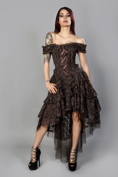 6eceafce52109 Ophelie Maxi Corset Dress - Braun