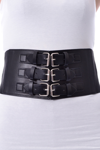 Chor Leather-Look Corset Belt