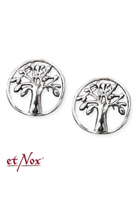 Round Earstuds Tree of Life - Silver 925