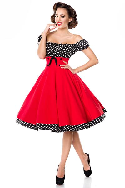 Dorothy Polka Dot Dress Red Black White 4995