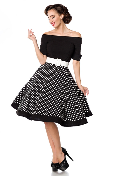 a8d2b804c19b Mary Lou Polka Dot Dress - Black-White