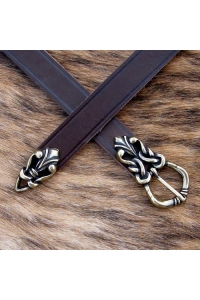 High Middle Ages Belt with Belt Ends - brown-bronze - 165cm