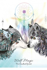 Karin Roberts - Animal Magic Art Grußkarte - Wolf Magic
