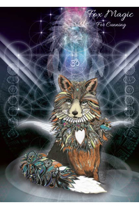 Karin Roberts - Animal Magic Art Grußkarte - Fox Magic